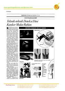 Teknik-teknik Deteksi Dini Kanker Mulut Rahim