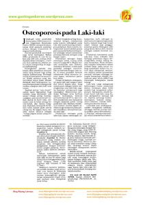 Osteoporosis Pada Laki-Laki